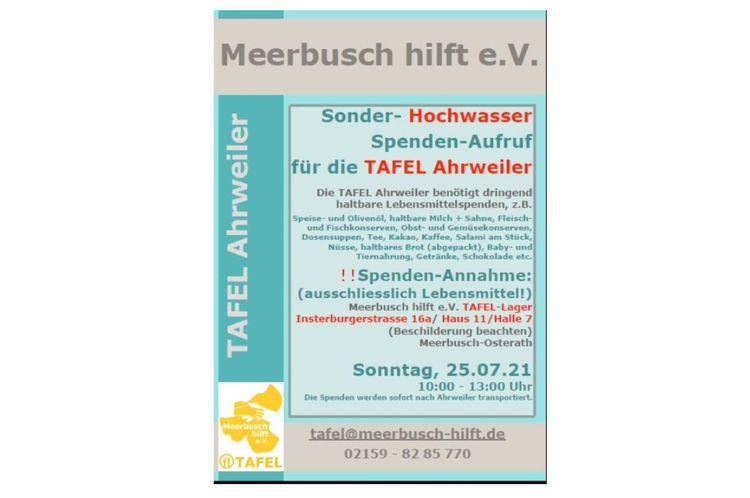 Spenden-Aufruf | Tafel Ahrweiler