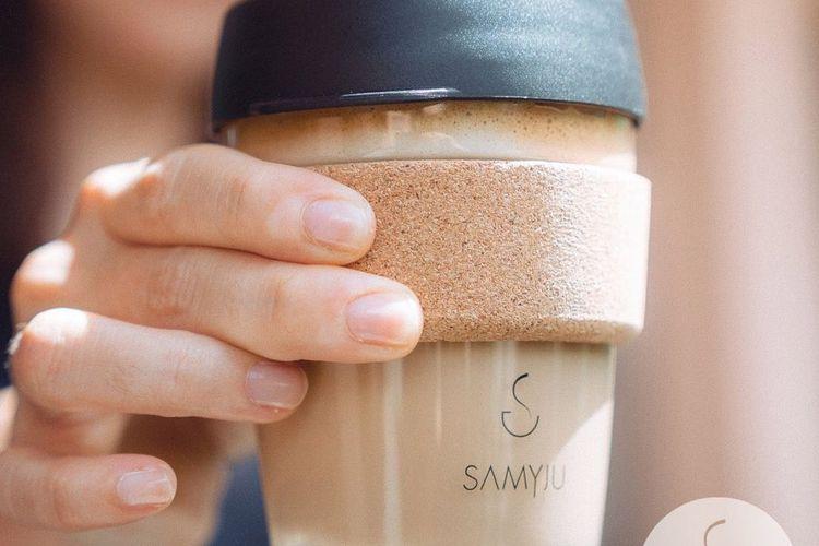SAMYJU branded KeepCups